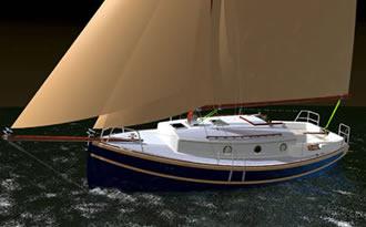 Проект яхты гафельный тендер 26 футов