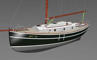 чертежи яхты гафельный тендер 10метров