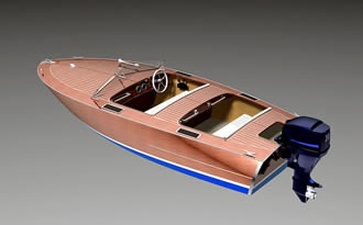 Speed power boat Runabout Z-14 plans