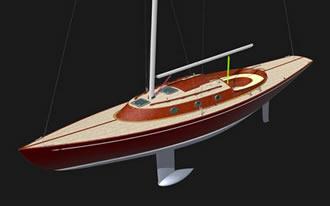 проект винтажной яхты 12 метров классический гонщик