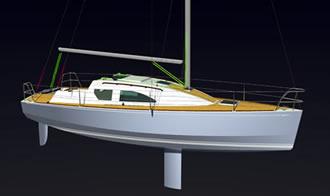 проект яхты швертбота 7.6 метра