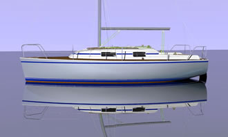 centerboard/keel sailing yacht 30 ft plans