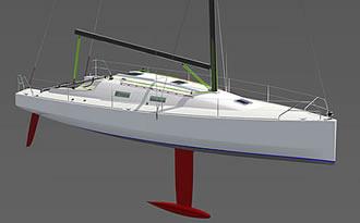 проект гоночной яхты 40 футов. чертежи яхты
